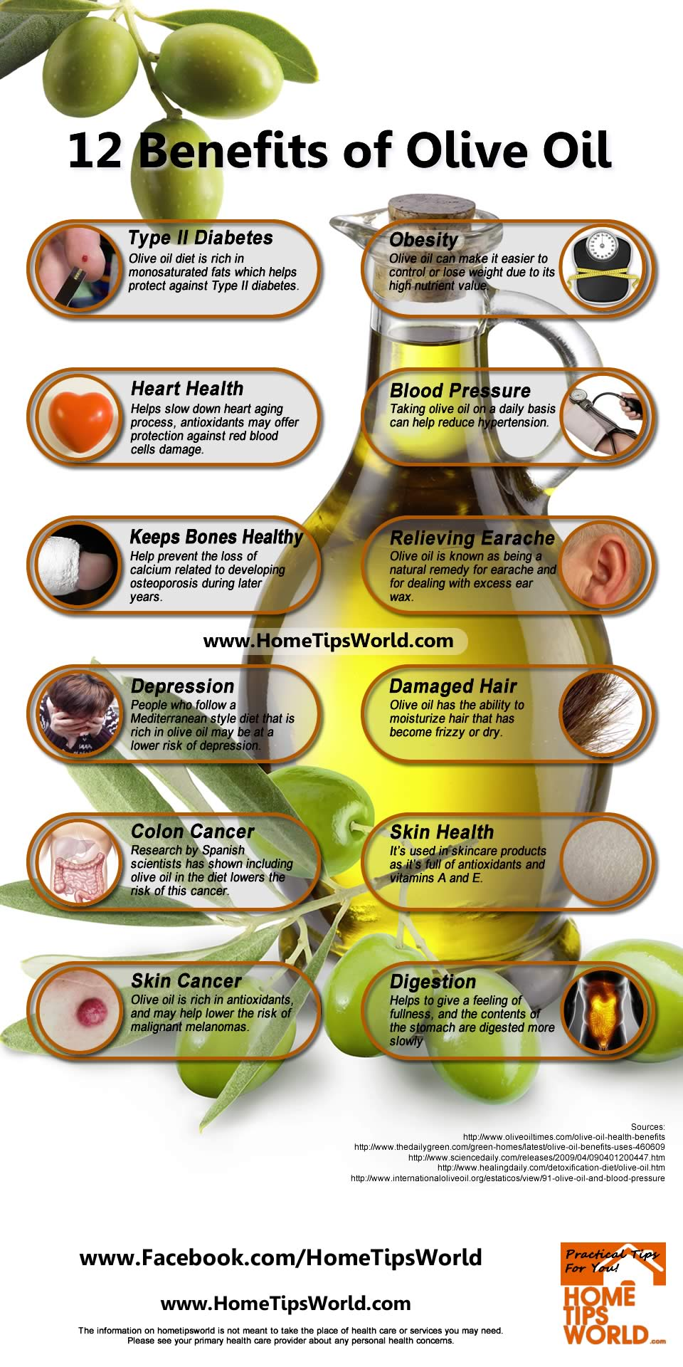12 benefits of olive oil infographic