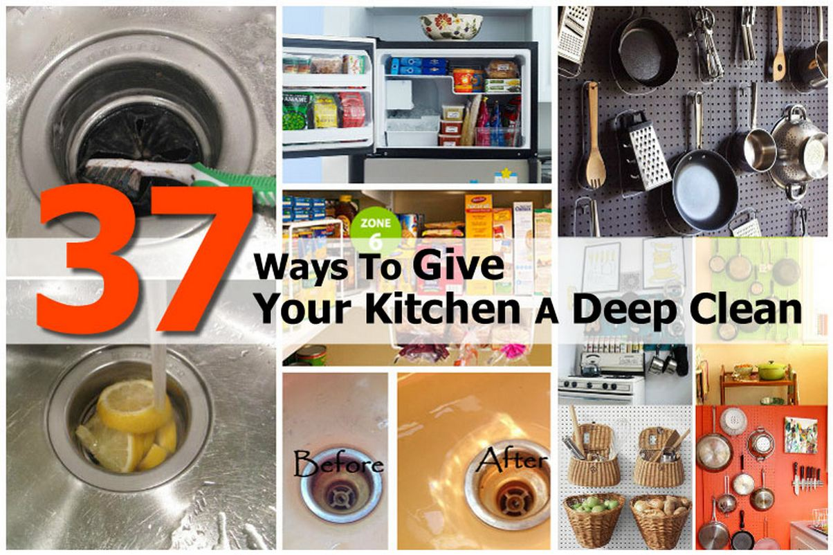 37 ways to give your kitchen a deep clean for Deep clean kitchen