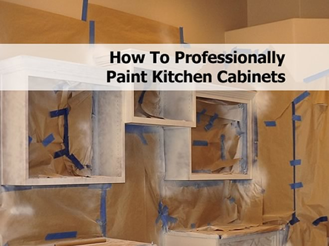 how to professionally paint kitchen cabinets