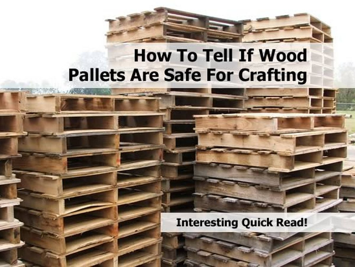 how to tell if wood pallets are safe for crafting. Black Bedroom Furniture Sets. Home Design Ideas