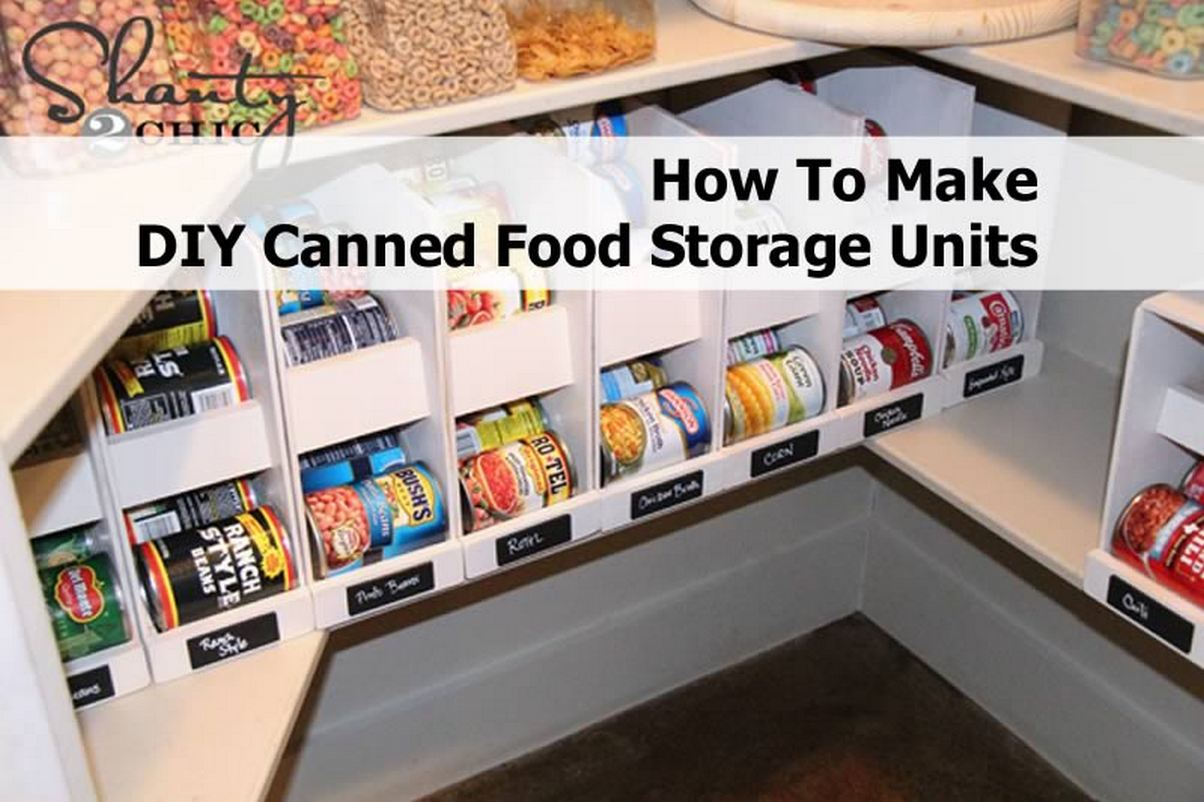 keep your pantry organized with these canned food storage units to