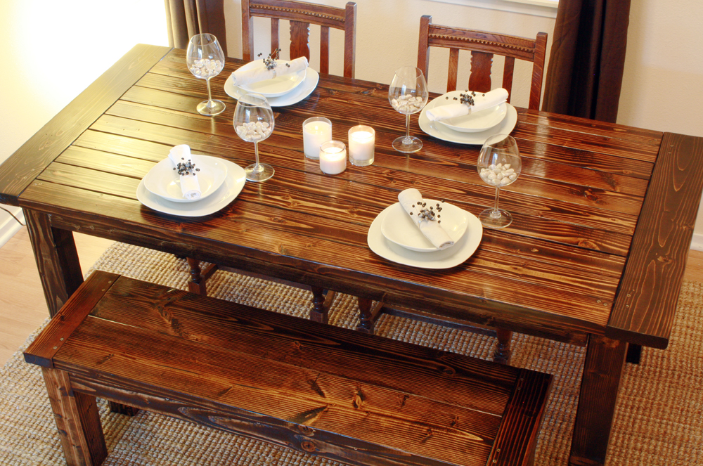 how to build a wood dining table. Black Bedroom Furniture Sets. Home Design Ideas
