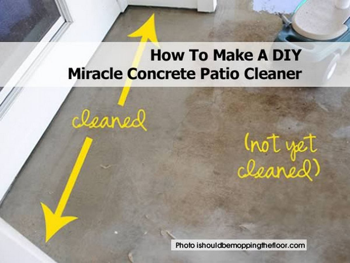 How to make a diy miracle concrete patio cleaner for Concrete advice