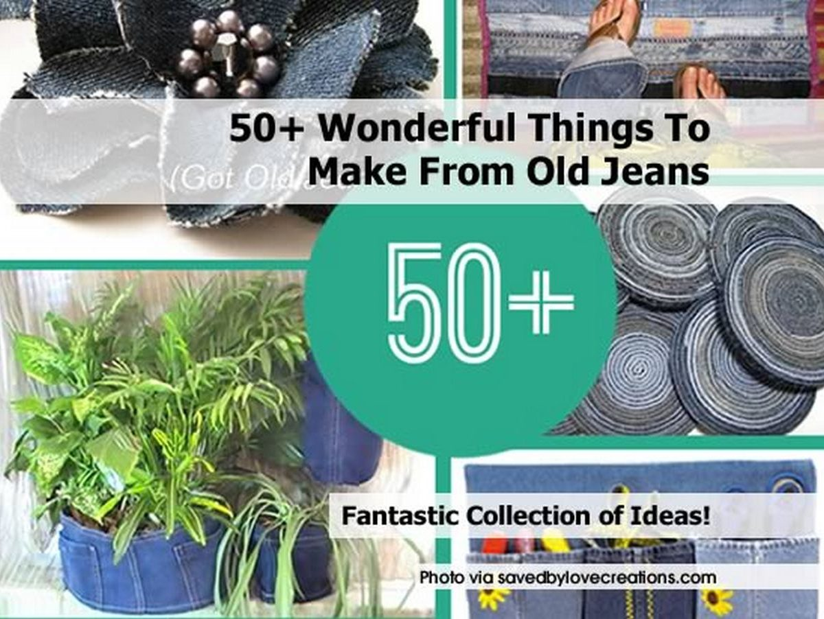 50 Wonderful Things To Make From Old Jeans