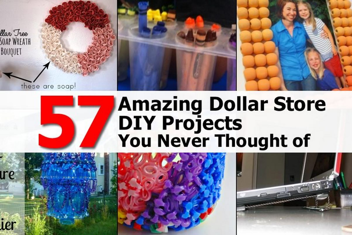 57 amazing dollar store diy projects you never thought of for Diy room decor ideas you never thought of
