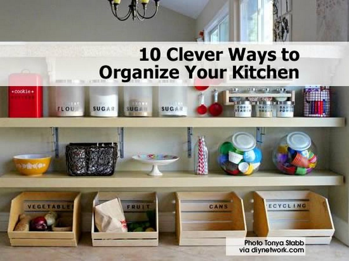 10 Clever Ways To Organize Your Kitchen