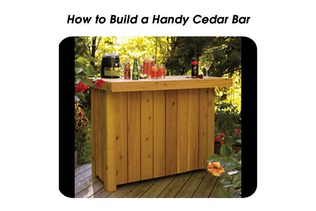 how to build cedar bar stools
