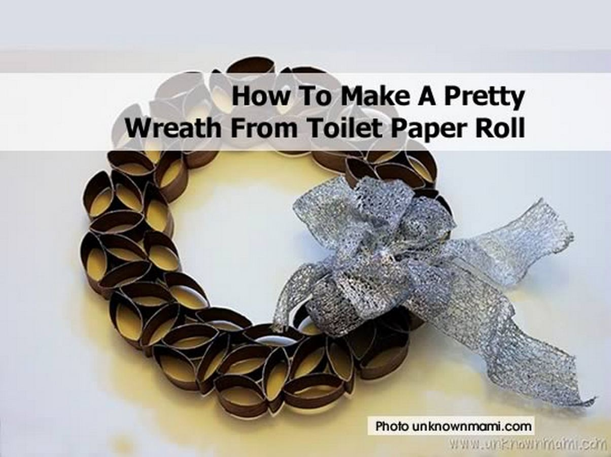 how to make a pretty wreath from toilet paper roll