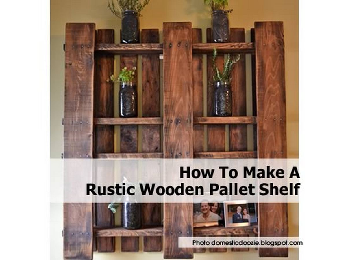 How to make a rustic wooden pallet shelf for Shelves made out of wood pallets
