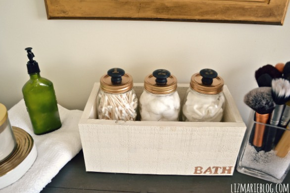 How to organize your bathroom with beautiful storage mason for Bathroom jar ideas