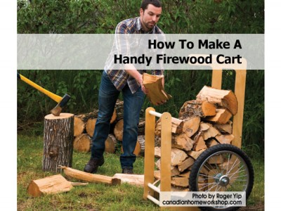 And handy firewood cart you can easily store all your firewood