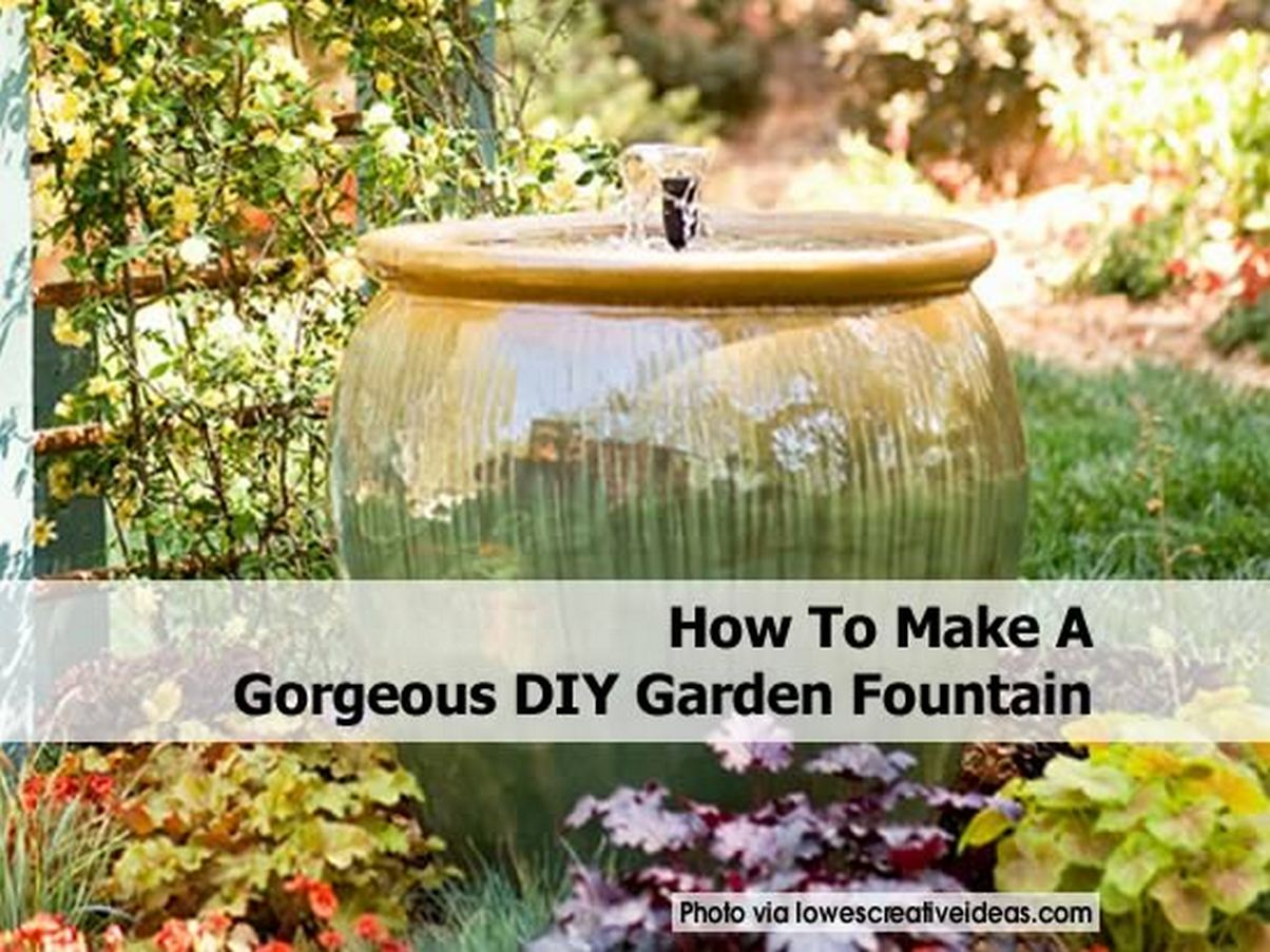 how to make a homemade pet fountain
