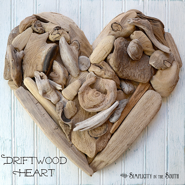 How to make gorgeous driftwood heart wall art for How to make driftwood crafts