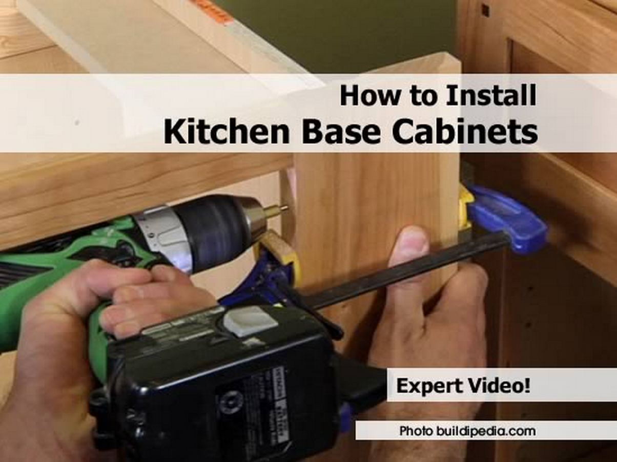 How To Replace Kitchen Cabinets How To Install Kitchen Base Cabinets By Buildipedia Com