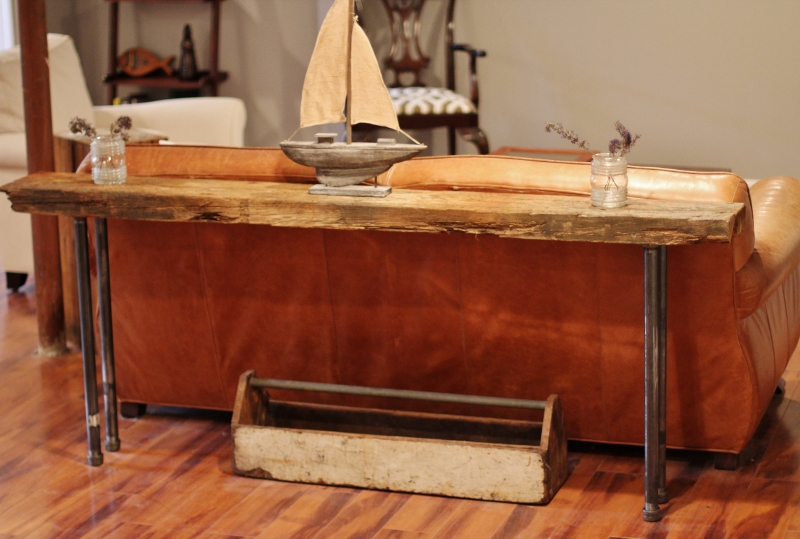 How To Make A Simple Rustic Homemade Wood Amp Iron Table