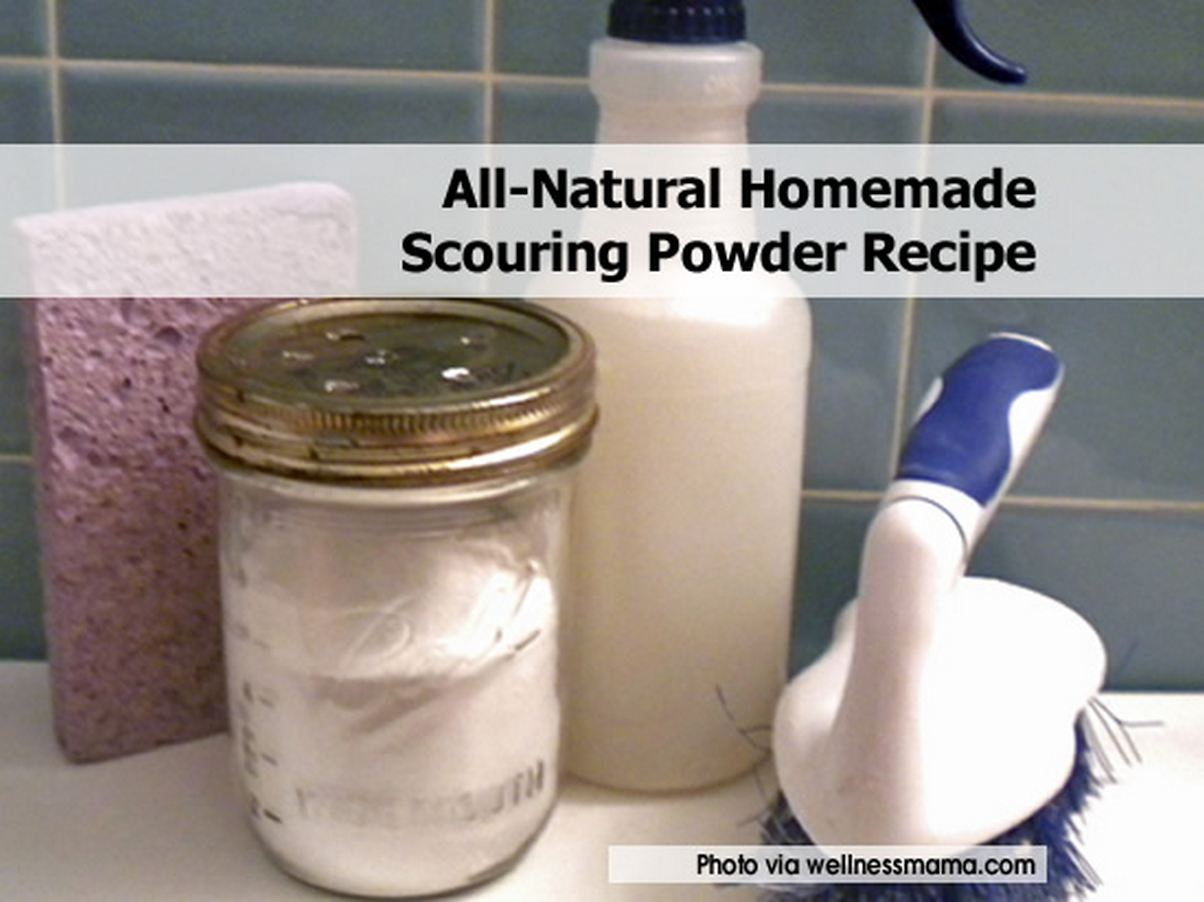 all natural homemade scouring powder recipe