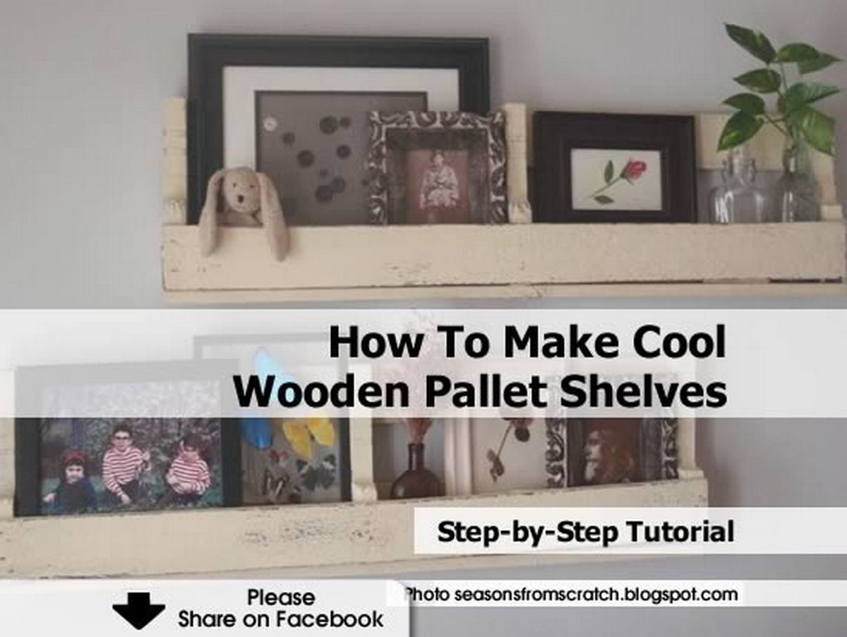 How To Make Cool Wooden Pallet Shelves