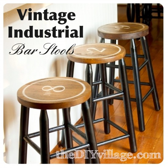 34 Awesome Basement Bar Ideas And How To Make It With Low: How To Refinish Bar Stools Into Cool Industrial Vintage Style