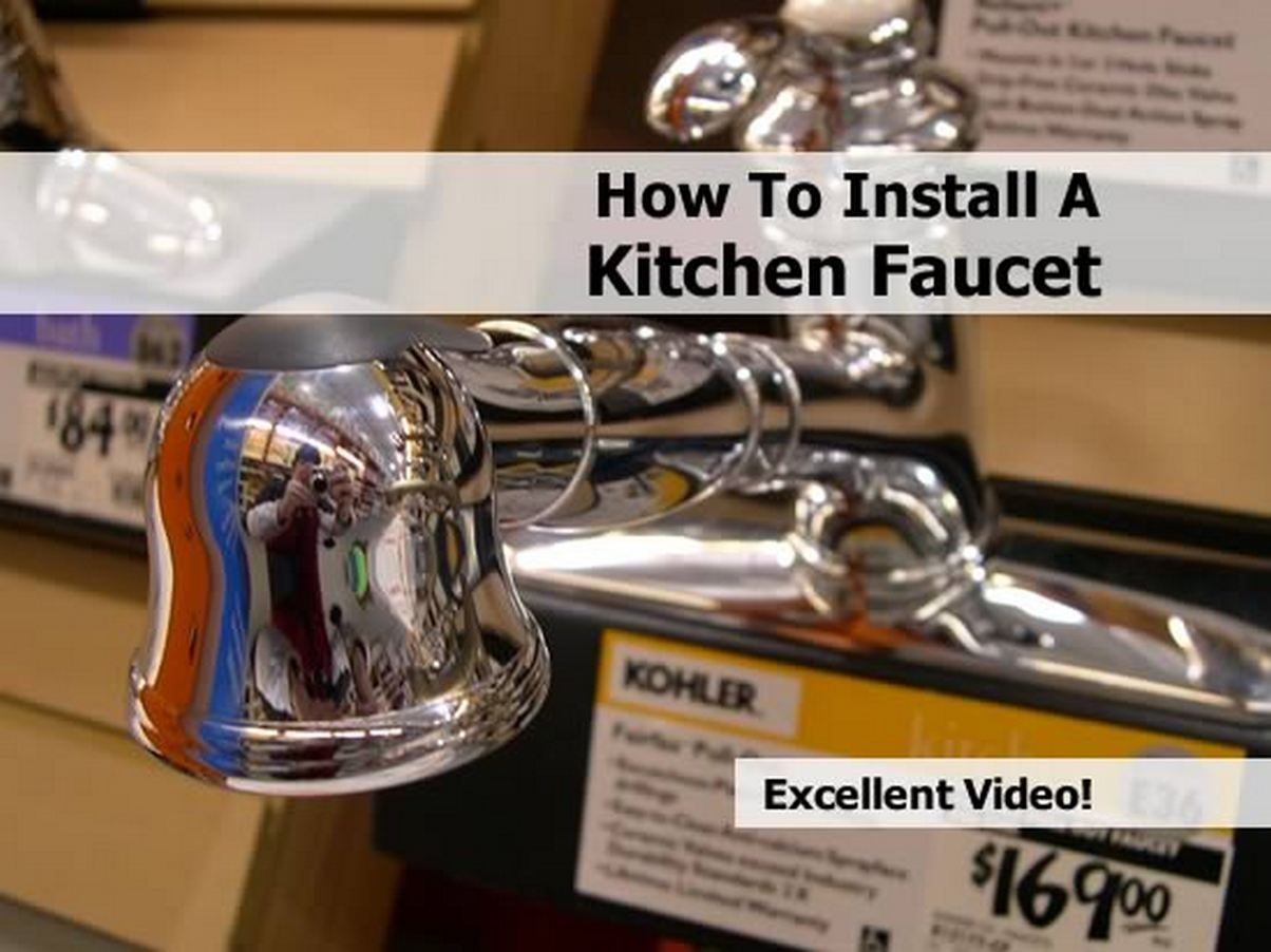 How to replace kitchen faucet and installation