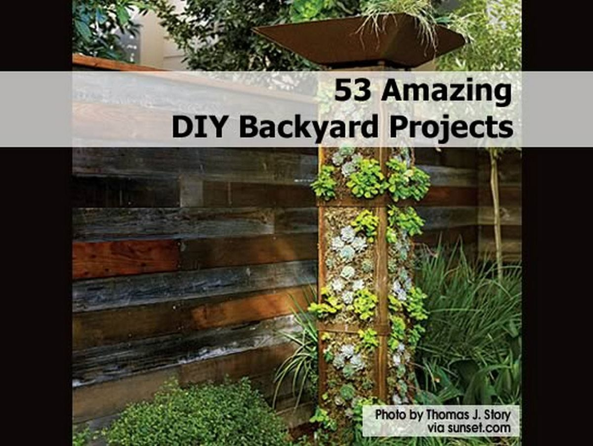 53 amazing diy backyard projects for Diy home design ideas landscape backyard