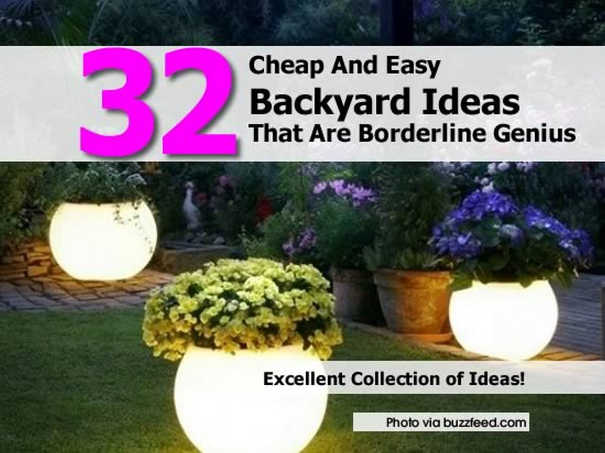 32 cheap and easy backyard ideas that are borderline genius for Simple garden ideas on a budget