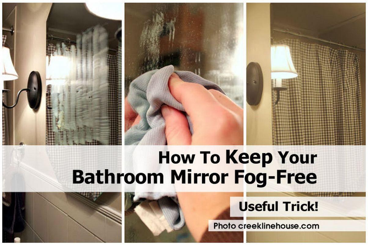 How to keep your bathroom mirror fog free - Simple ways keep bathroom mirror fogging ...