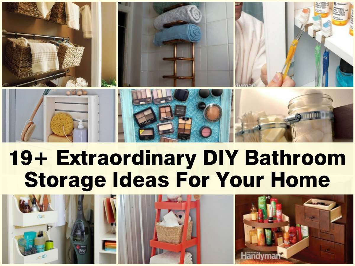 19 Extraordinary Diy Bathroom Storage Ideas For Your Home