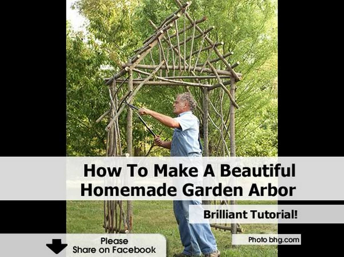 how to make a beautiful homemade garden arbor how to make a beautiful garden trellis to showcase a