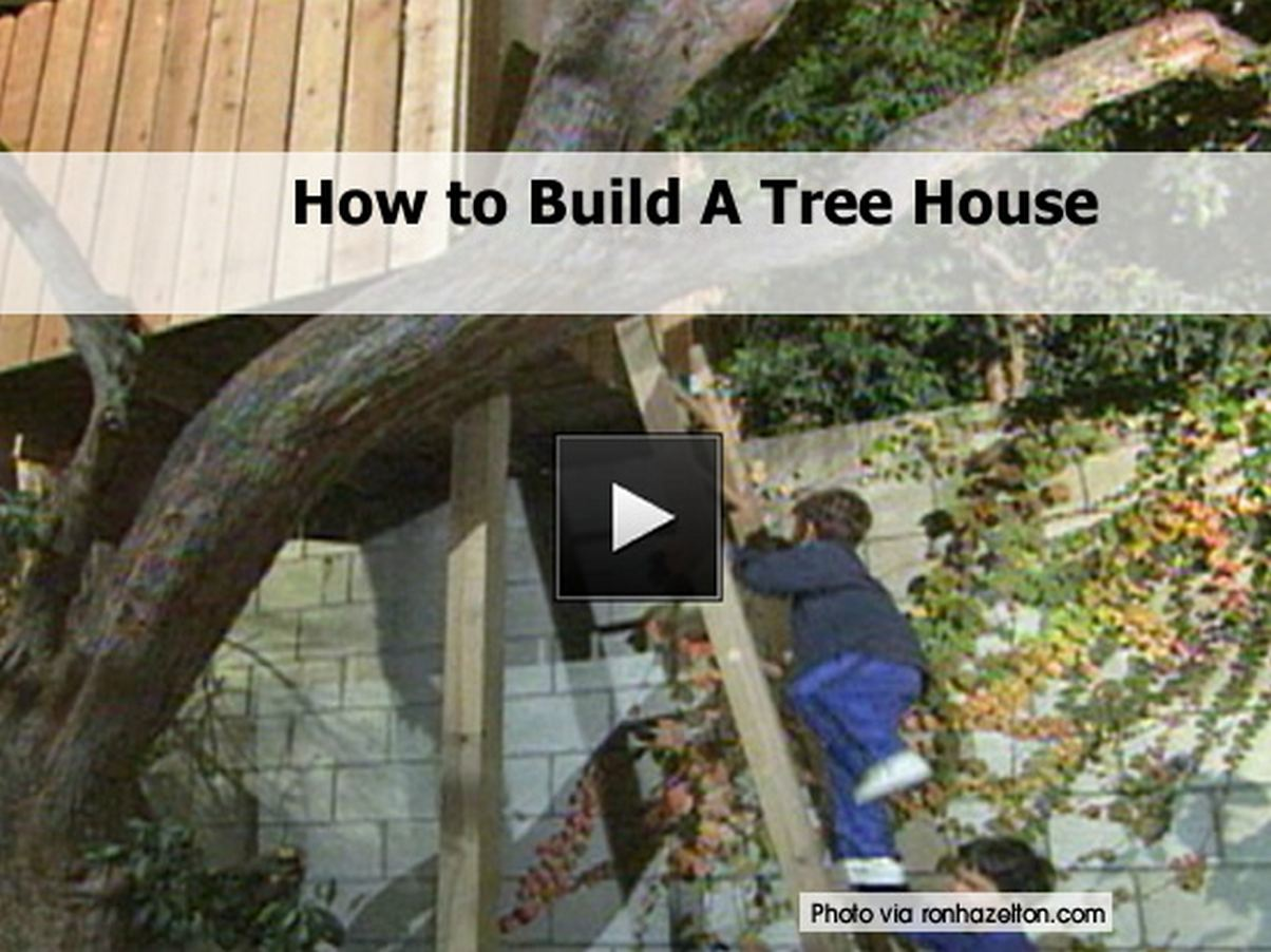 How to build a tree house for How to build my house