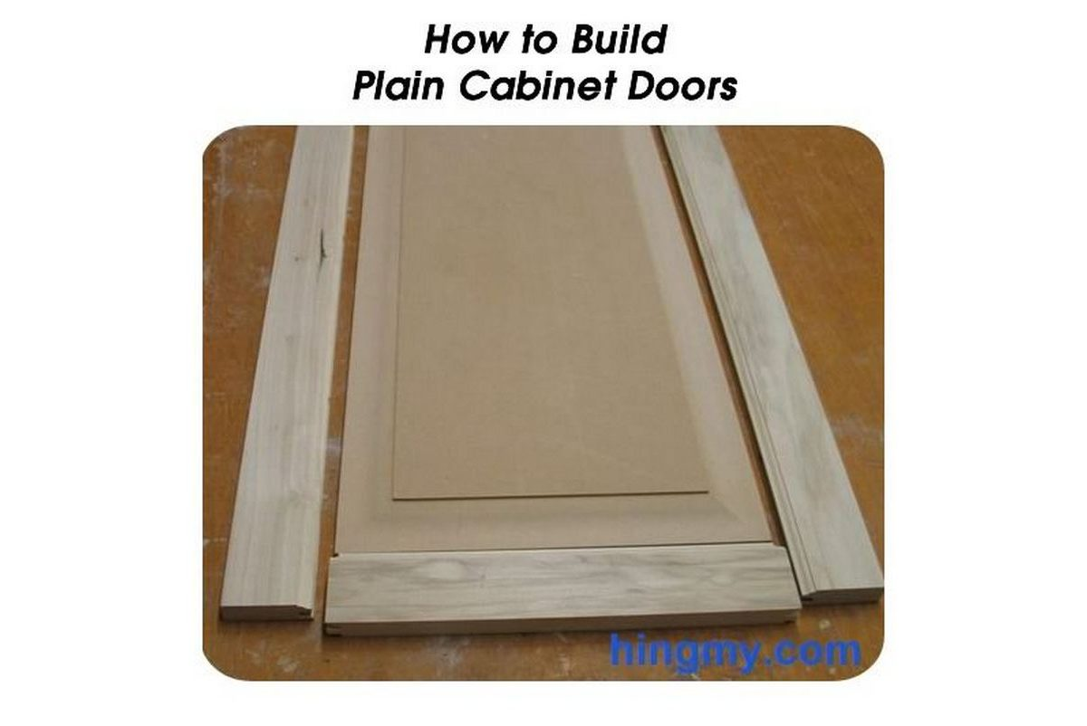 How To Make A Cabinet Door Frame How To Build Plain