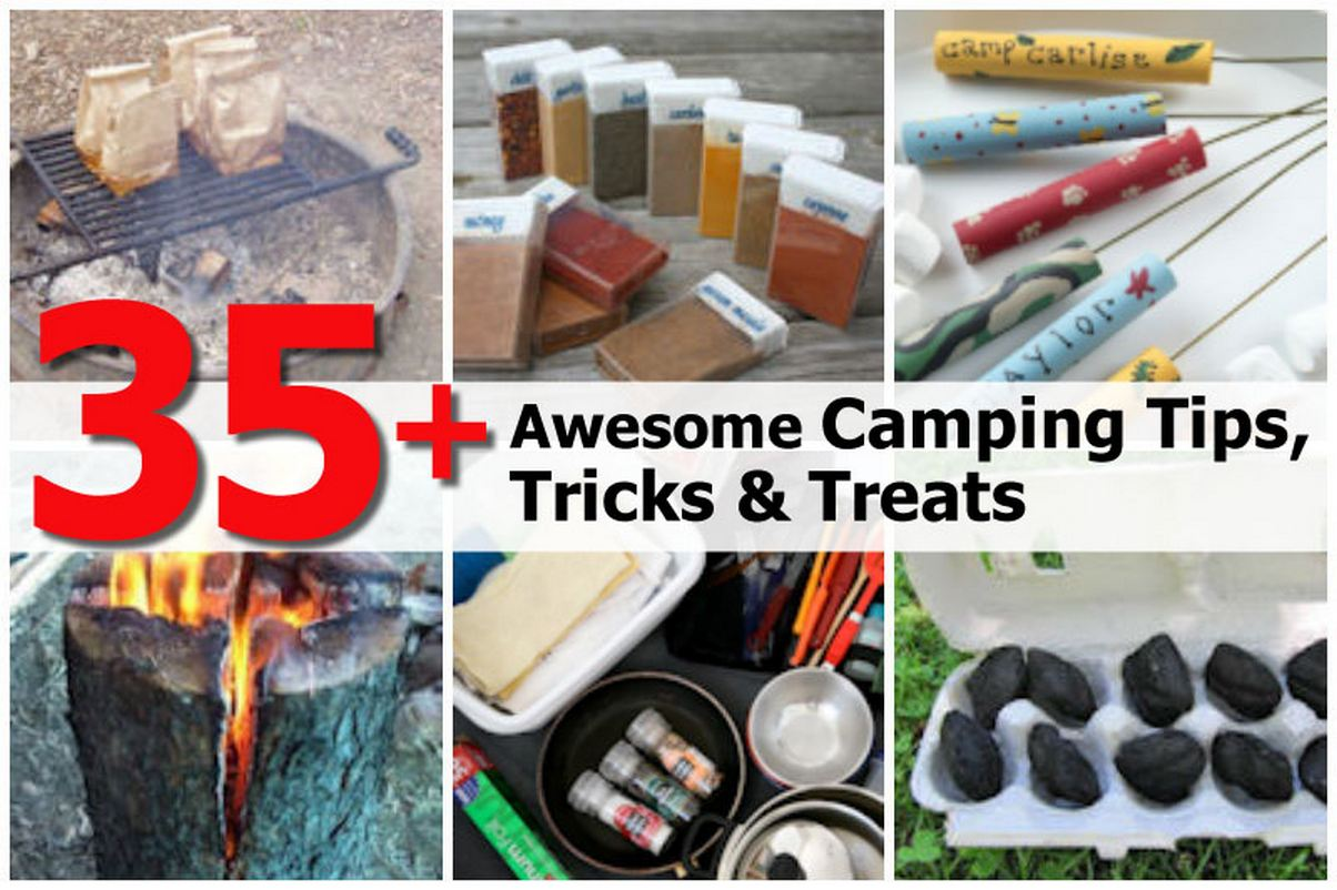 35 awesome camping tips tricks treats for Home building tips and tricks