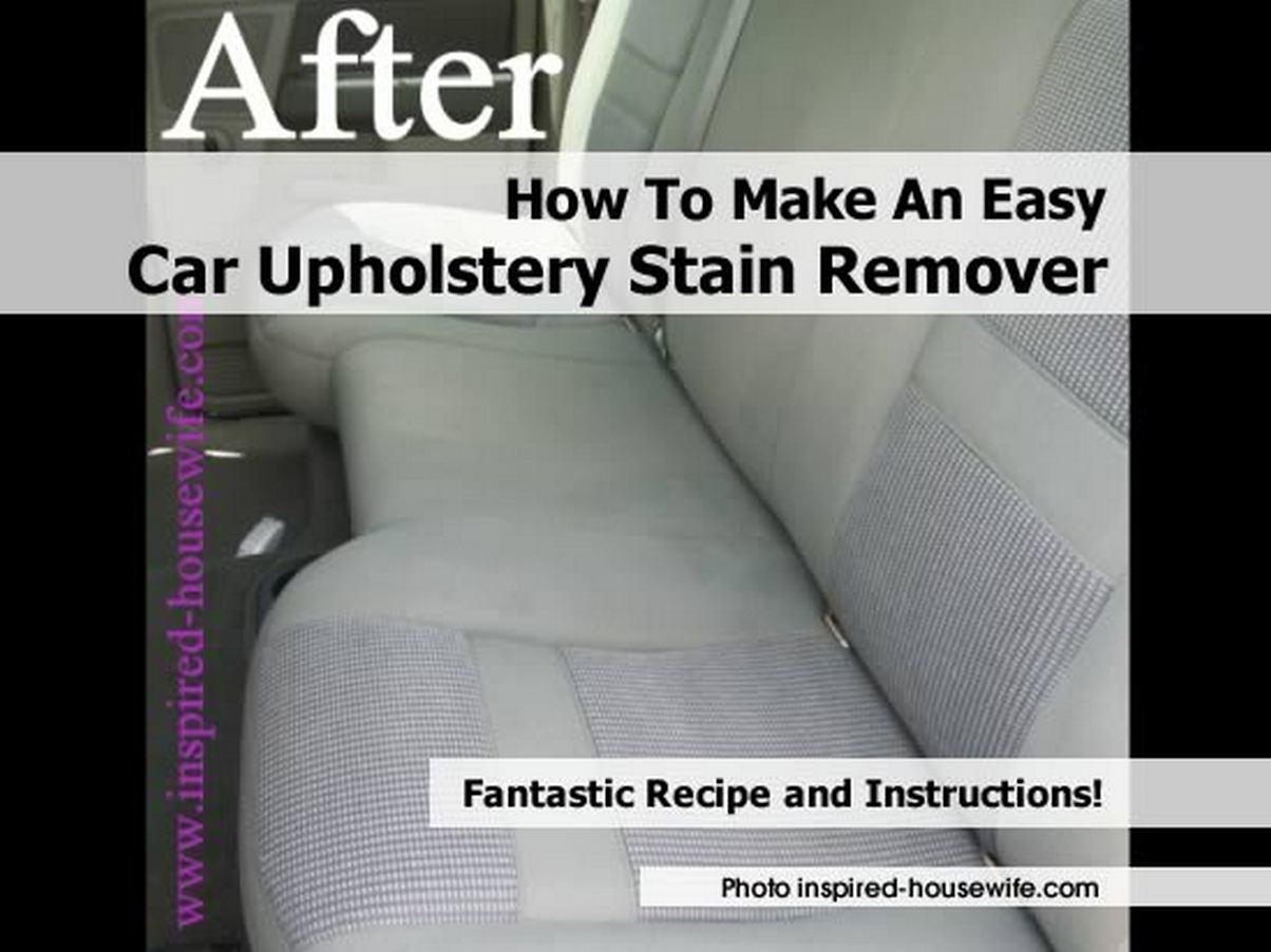 how to make an easy car upholstery stain remover