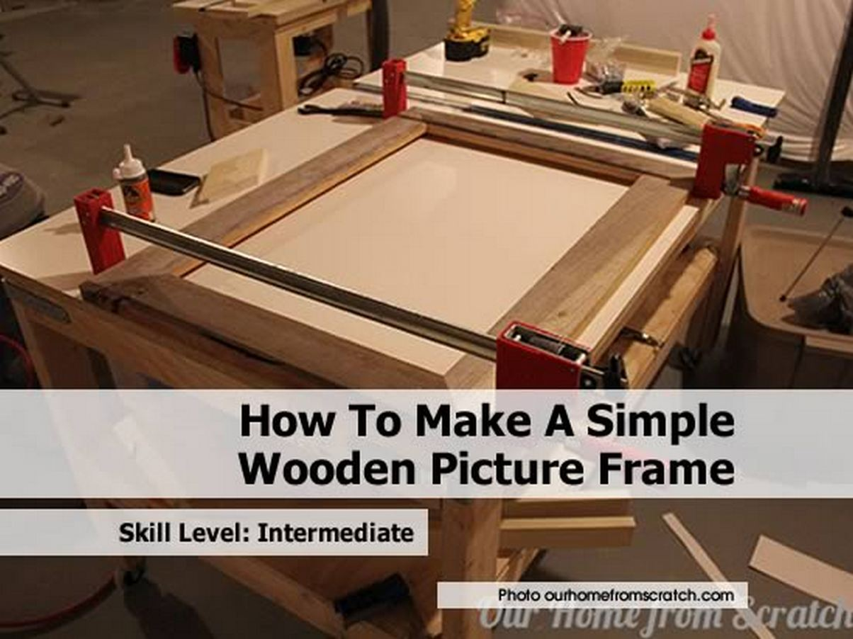 how to make a simple wooden picture frame. Black Bedroom Furniture Sets. Home Design Ideas
