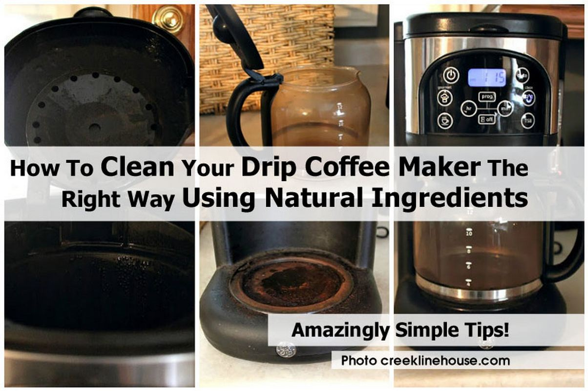 How To Clean Your Drip Coffee Maker The Right Way Using Natural Ingredients