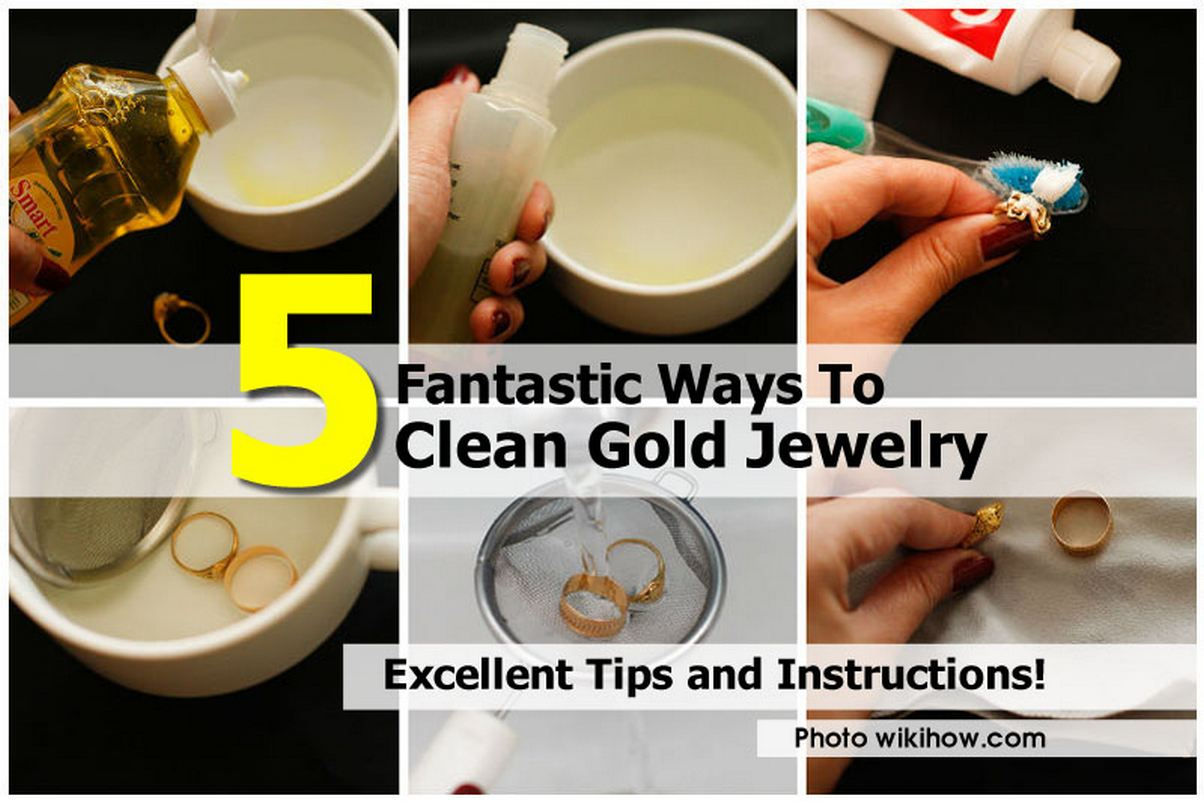 5 fantastic ways to clean gold jewelry