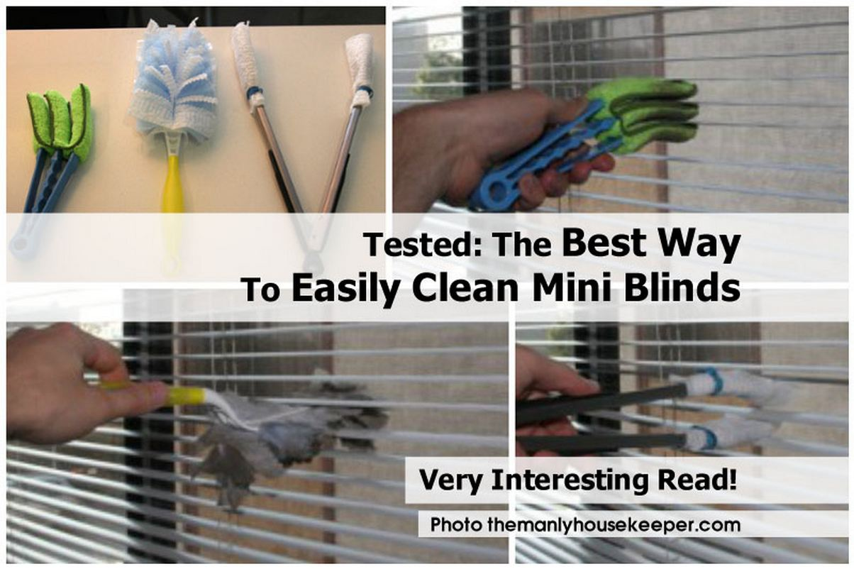 Tested the best way to easily clean mini blinds - Five home easy cleaning tips ...