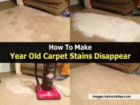 How To Make Year Old Carpet Stains Disappear