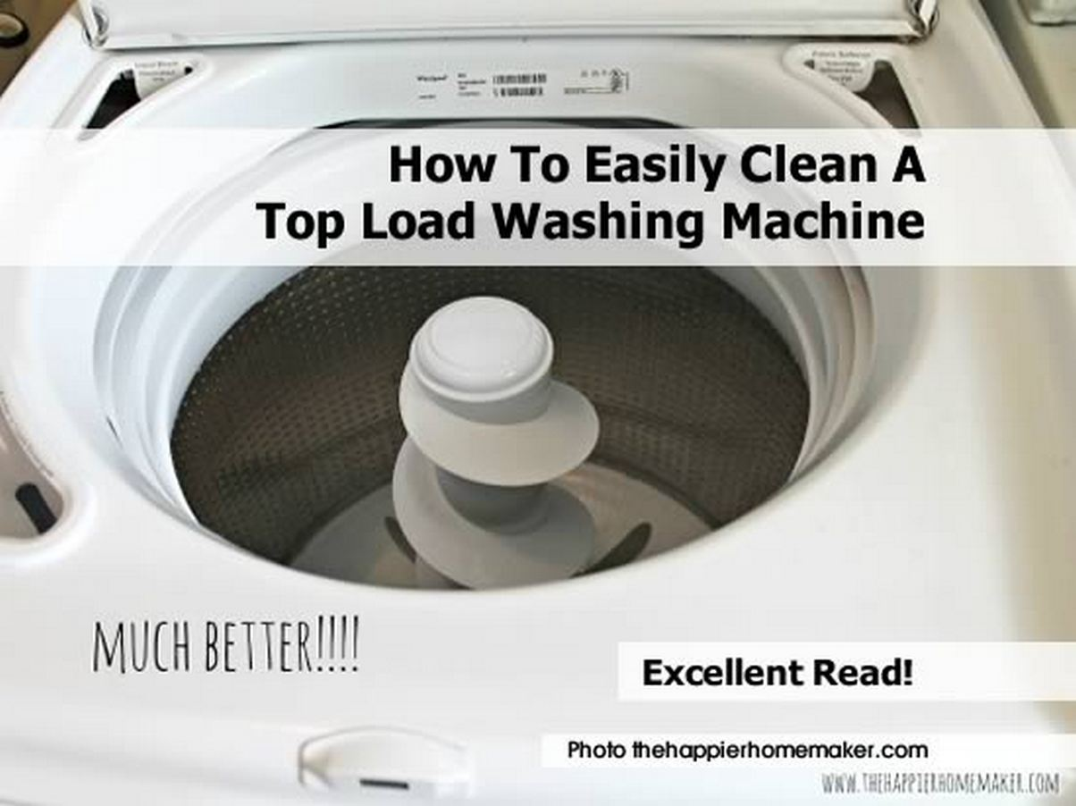 how to easily clean a top load washing machine. Black Bedroom Furniture Sets. Home Design Ideas
