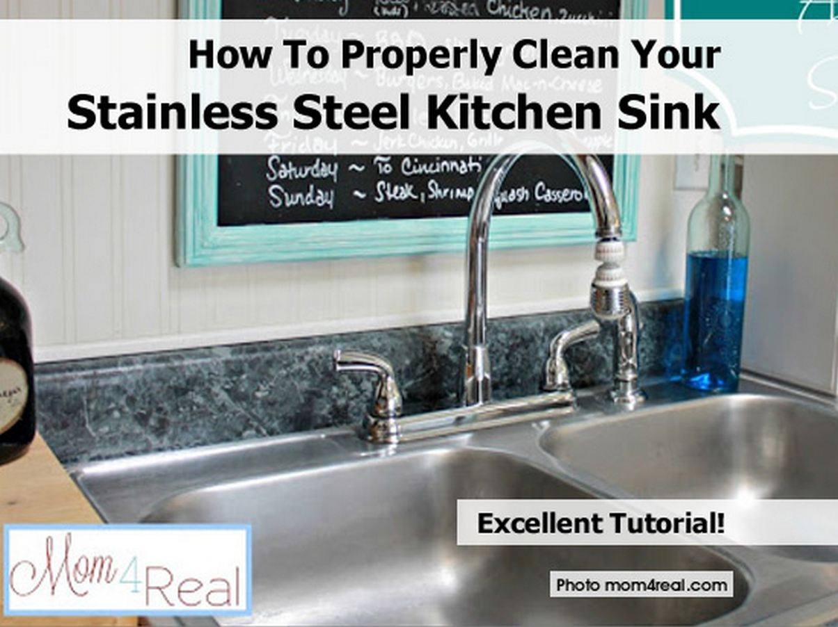 how to properly clean your stainless steel kitchen sink. Black Bedroom Furniture Sets. Home Design Ideas