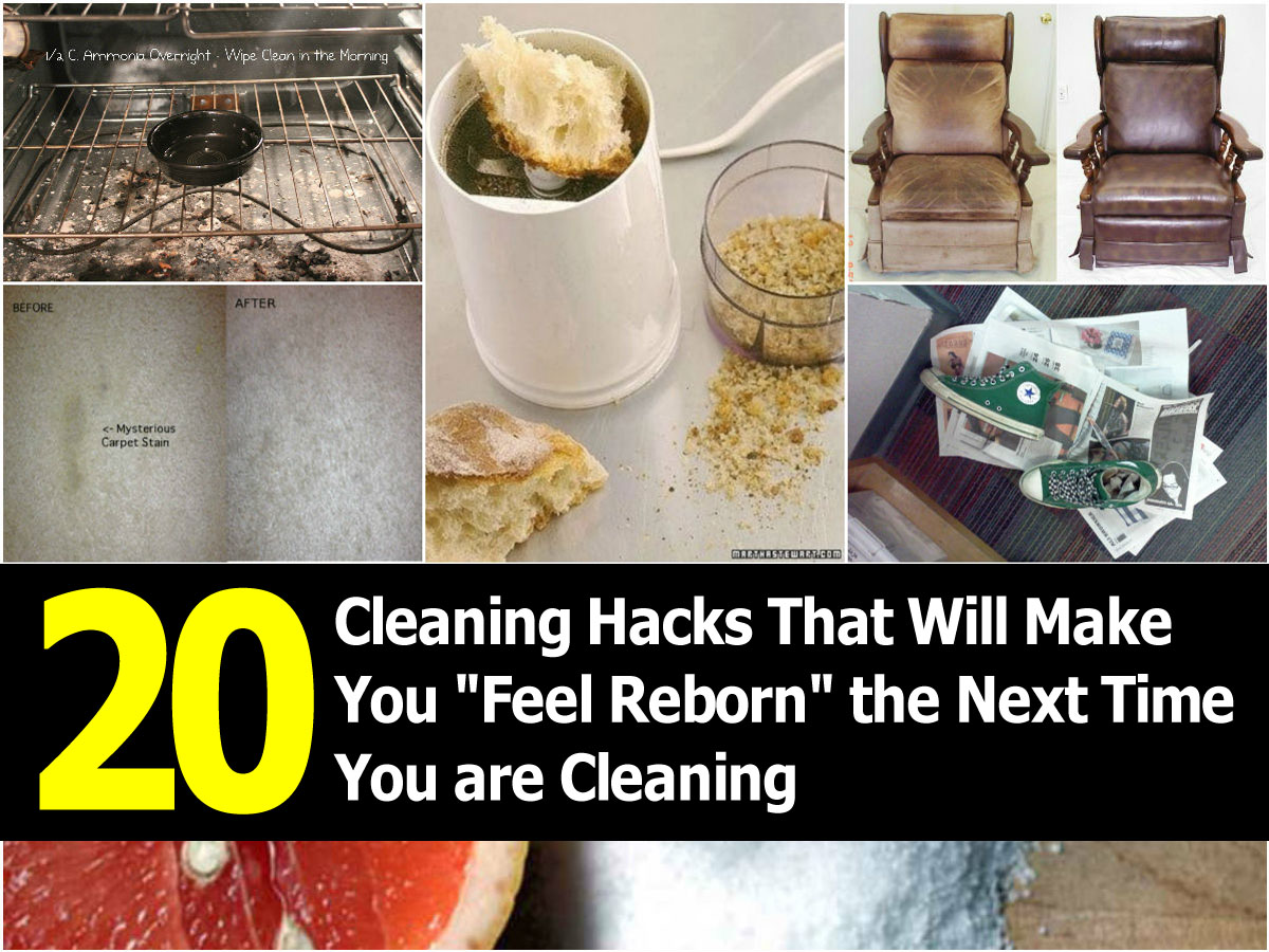 20 cleaning hacks that will make you feel reborn the for Household hacks