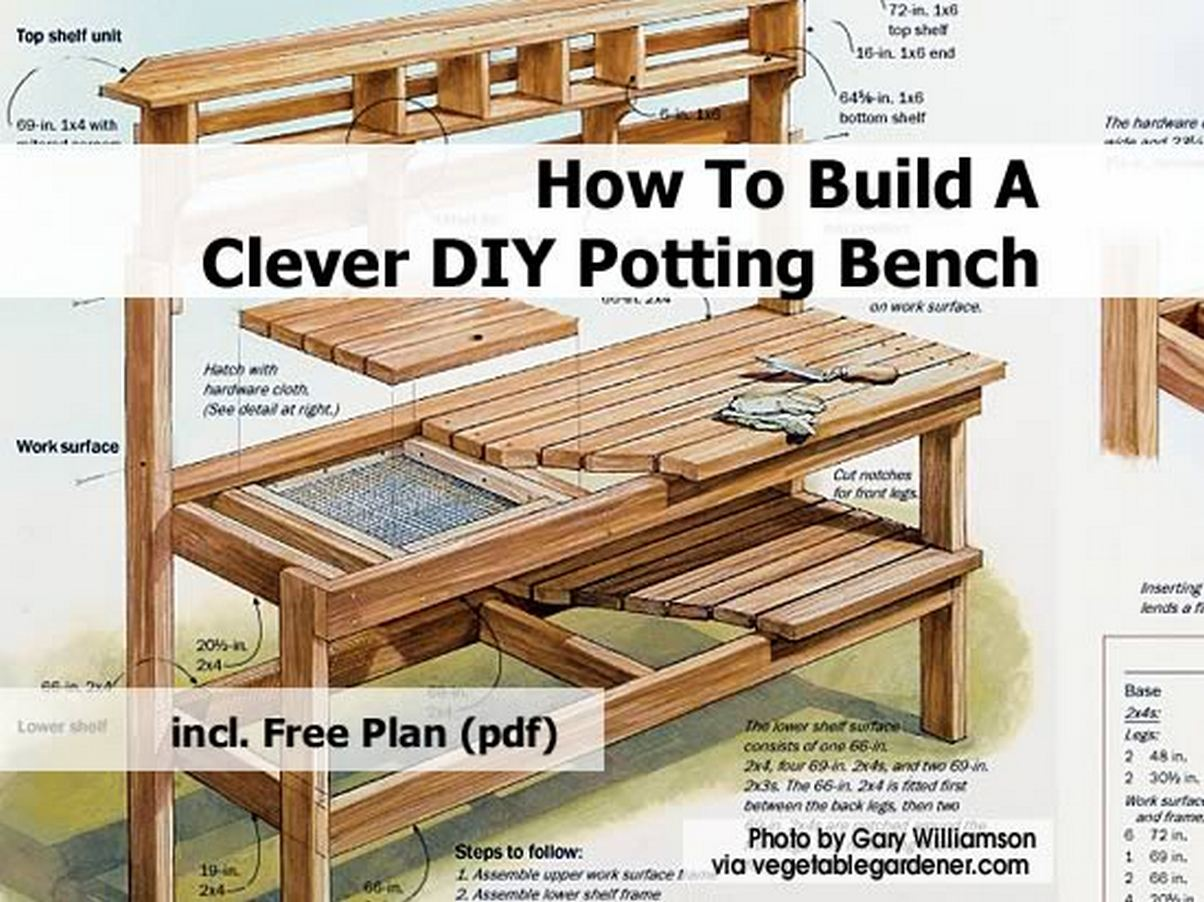 Pdf diy how to build a cedar potting bench download how to build a blanket chest woodguides Potting bench ideas