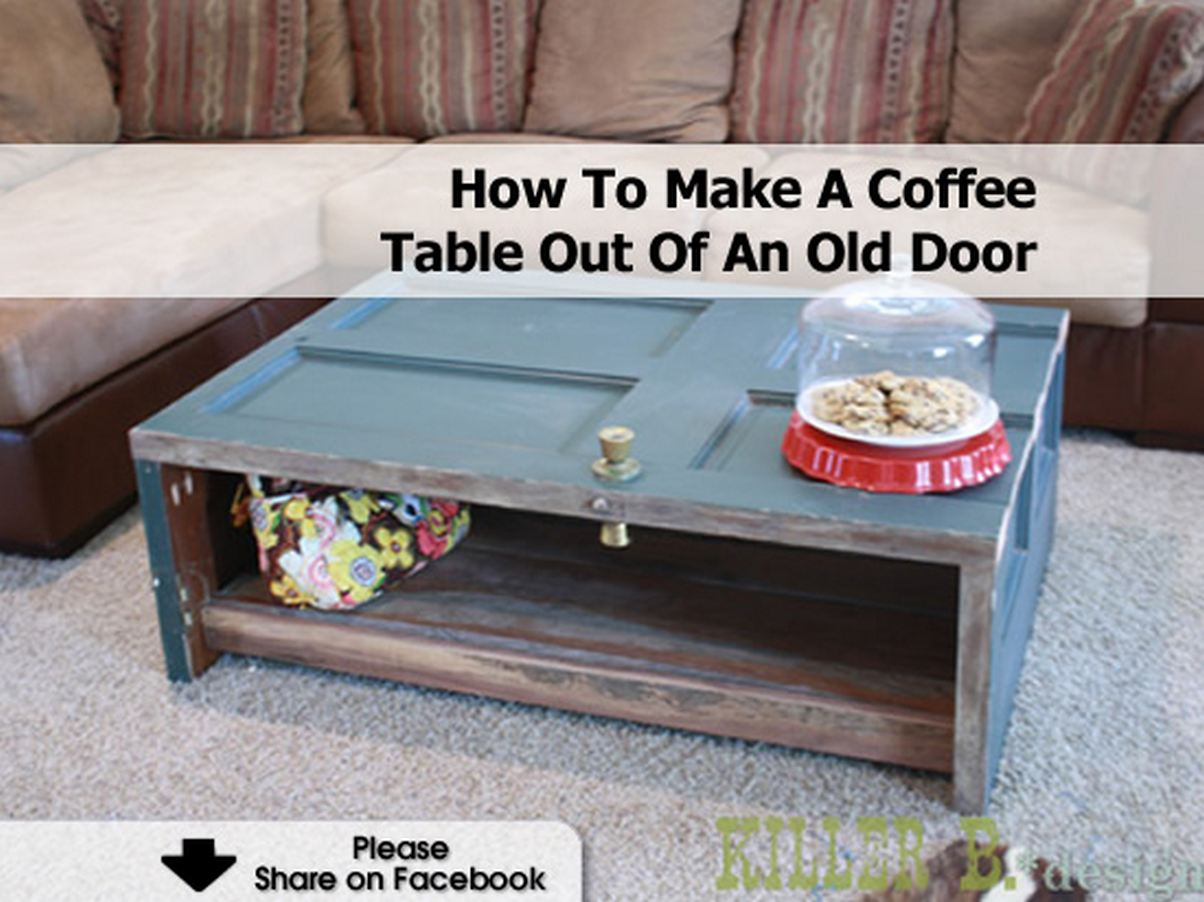 How to make a coffee table out of an old door - Make a table from an old door ...
