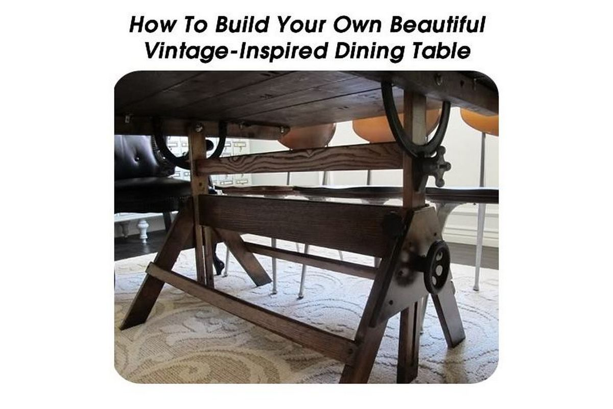 how to build your own beautiful vintage inspired dining table. Black Bedroom Furniture Sets. Home Design Ideas