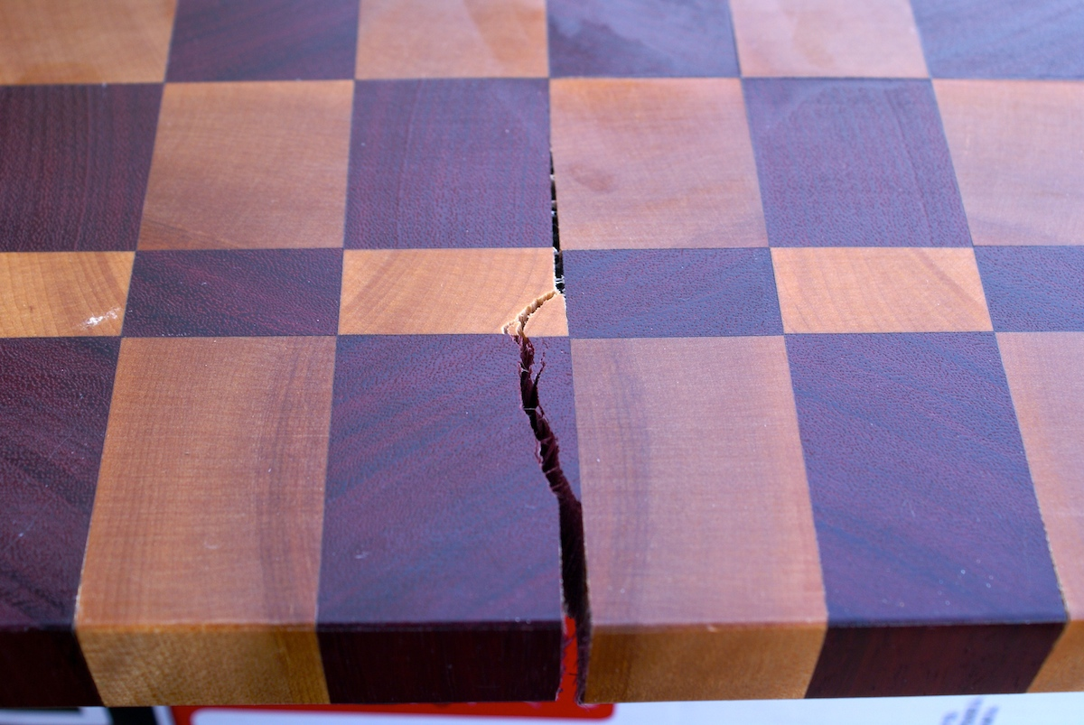 ... up to find a crack or split in your wooden cutting board don t worry
