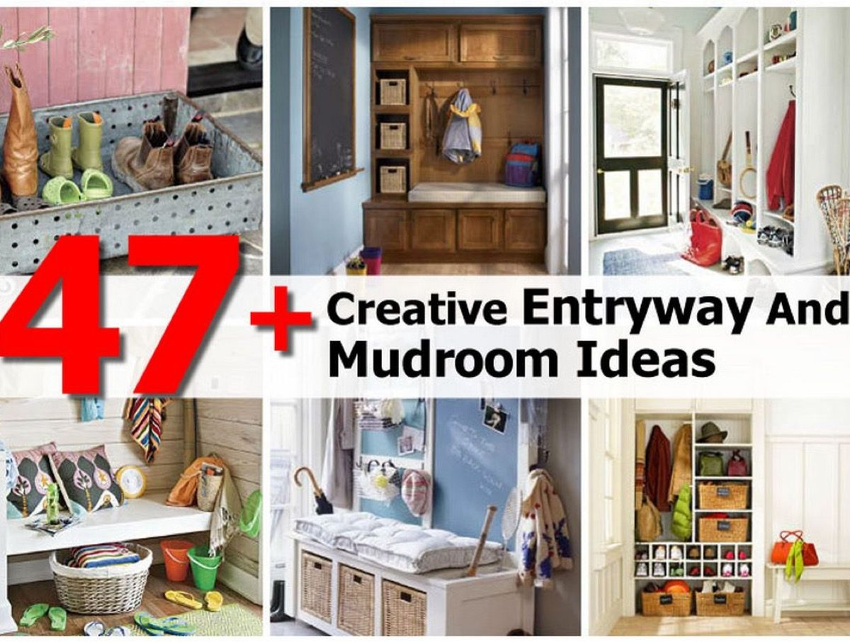 47+ Creative Entryway And Mudroom Ideas