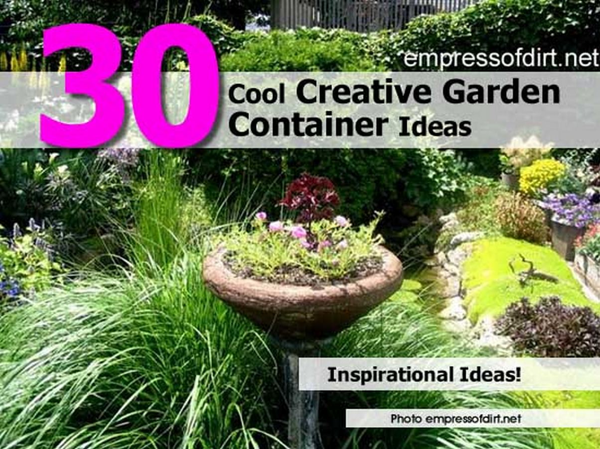 Creative garden container ideas photograph 30 cool creativ for Creative garden design 805