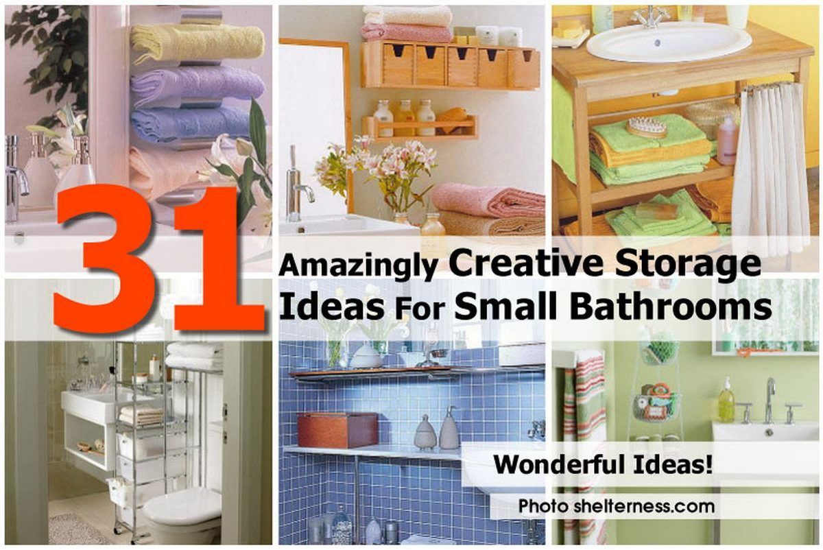 31 amazingly creative storage ideas for small bathrooms for Unusual storage ideas