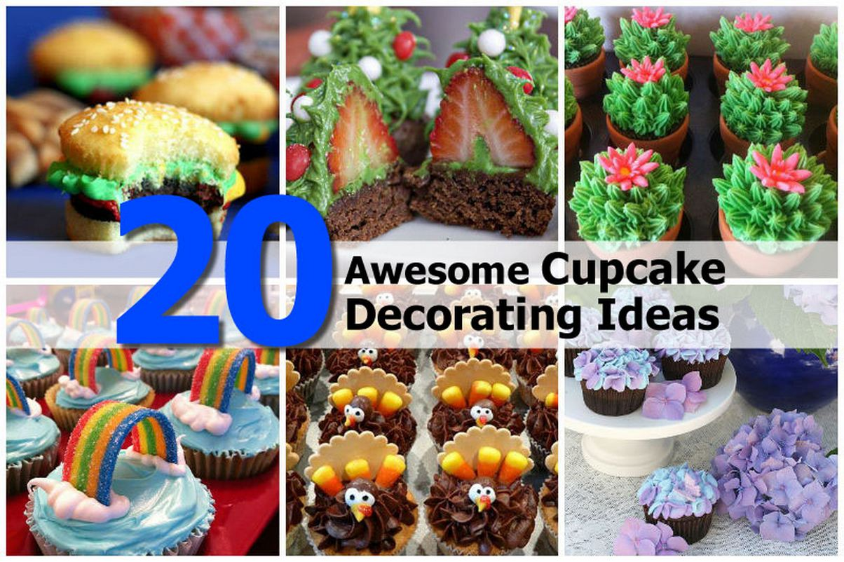 20 awesome cupcake decorating ideas Cupcake decorating ideas