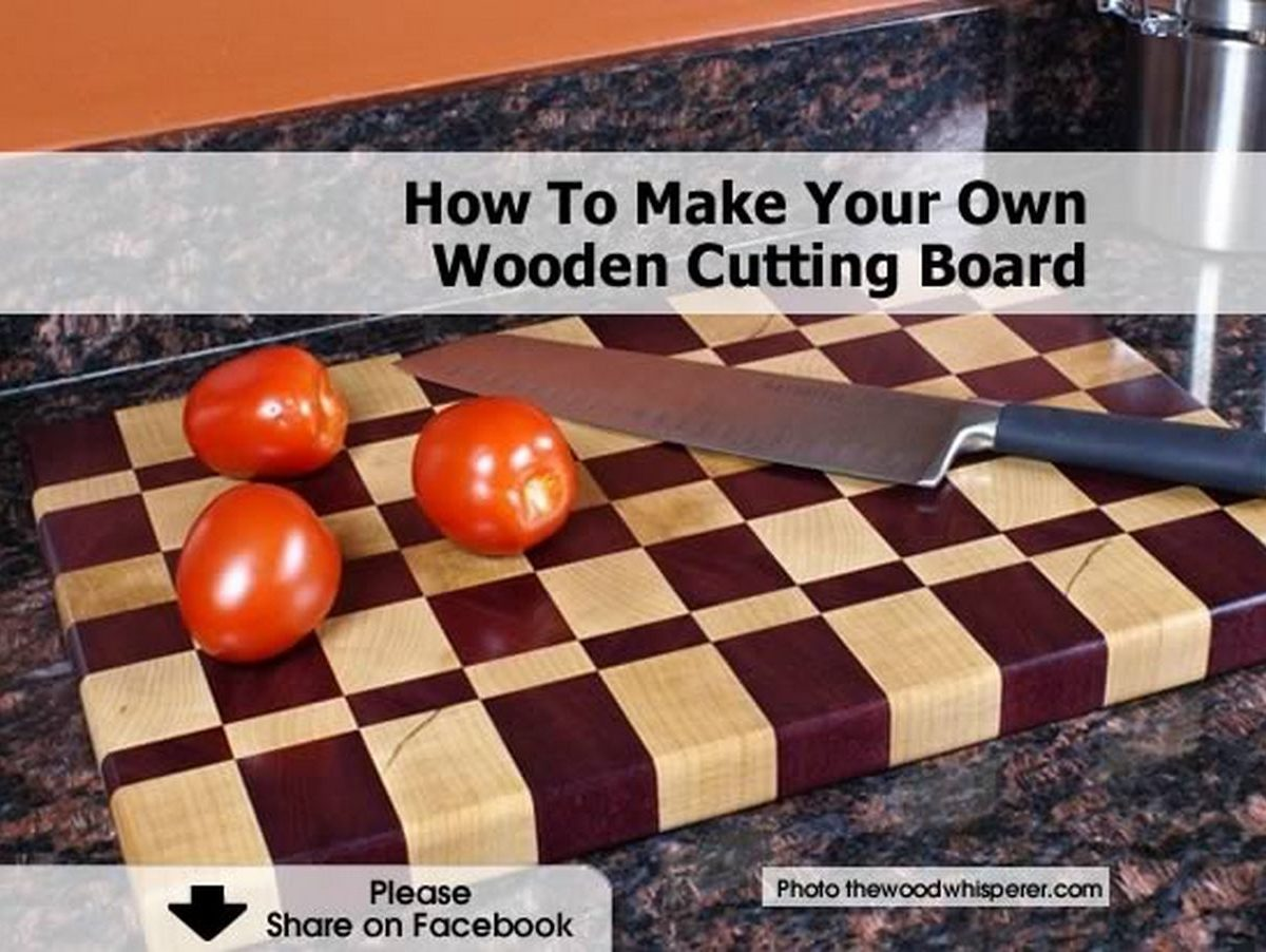 how to make your own wooden cutting board