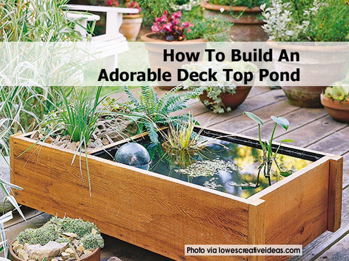 How to build an adorable deck top pond for Garden decking with pond